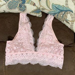Victoria's Secret pink lace bralette